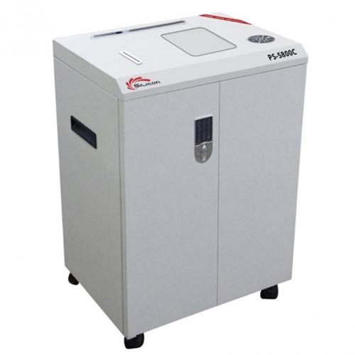 Máy hủy thẻ nhựa, lá bài, thẻ bài, voucher Silicon PS-5800C